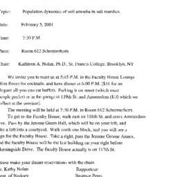 Announcements, 2001-02-05. ...