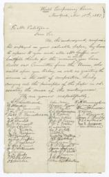 Autograph Letter, Signed by 49 Compositors