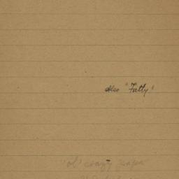 "Also ""Fatty,"" undated : aut..."