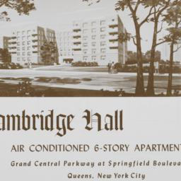 Cambridge Hall, Grand Centr...