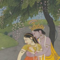 Krishna in the Garden with ...