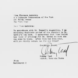 Letter from Ordway Tead to ...