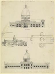 Design of Illinois State Building, Columbian World's Fair, Chicago. W. W. Boyington & Co., Architects