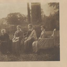 Four Seated Women by Tree