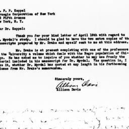 Letter from Allison Davis t...