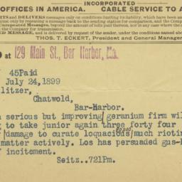 Telegram On The Newsboys' S...