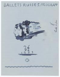 Sketch of a Program for Colonel W. de Basil's Ballets Russes de Monte Carlo