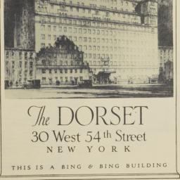 The     Dorset, 30 W. 54 St...