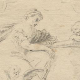 Female Figure with Putti in...