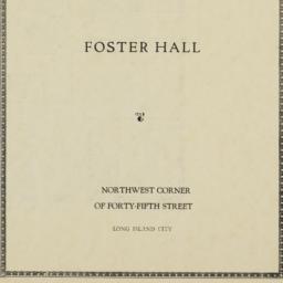 Foster Hall, 45 Street