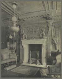 Drawing room, detail of mantel on East end