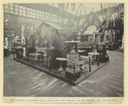 The Beautiful malachite, lapis lazuli and jade mosaics, and the bronzes, etc. of Woerffel. In the Russian Section of the Manufactures Building, World's Columbian Exposition, Chicago