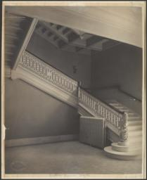 Boston Music Hall. [Interior staircase]