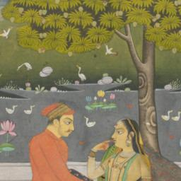 Two Lovers Seated in a Garden