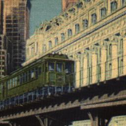 Elevated Railway Train, New...