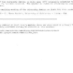 Correspondence, 2009-03-23....