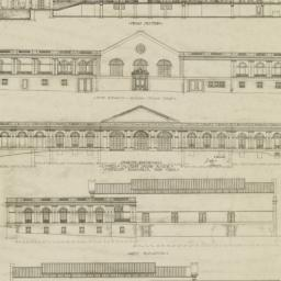 Sections and elevations of ...
