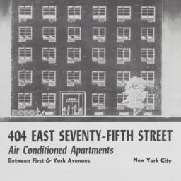 404 E. 75 Street, 404 East ...
