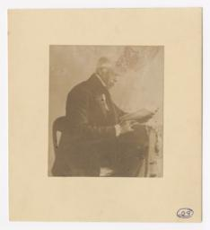 Nathaniel Fish Moore Seated Reading