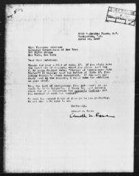 Letter from Arnold M. Rose to Florence Anderson, April 14, 1943