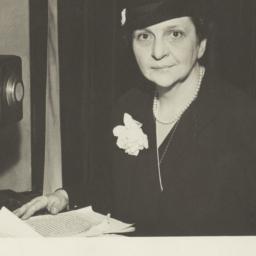Frances Perkins and NBC mic...