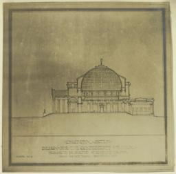 Design for the Confederate Memorial Proposed to be Erected at Richmond, Virginia. Longitudinal Section. Scheme No. II