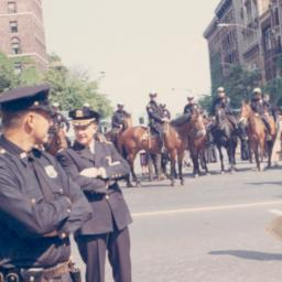 Police at 1968 commencement