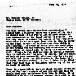 Letter from Guy B. Johnson ...