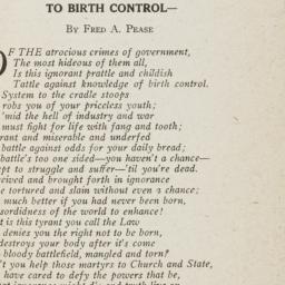 To Birth Control