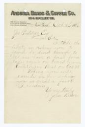 Letters Received Regarding Statue Of Liberty Dedication