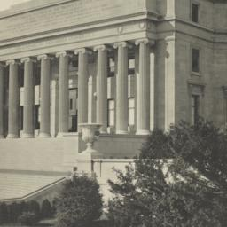 Approaches and portico: Lib...