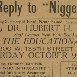 "A     Reply to ""Nigger Heav..."