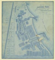 Map of Jackson Park, showing proposed improvements for 1893 World's Columbian Exposition. Correct up to September 1st, 1891