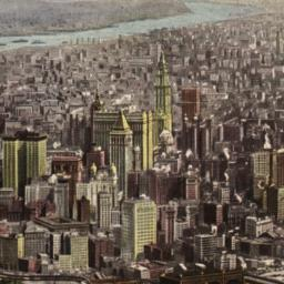 Aerial View of Manhattan Is...