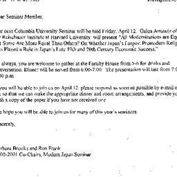 Announcements, 2002-04-12. ...