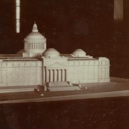 Model, entrance elevation
