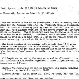 Announcements, 1982-09-22. ...