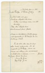 Manuscript Account For Legal Services Rendered By Roscoe Conkling To Joseph Pulitzer