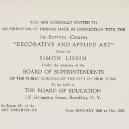 Invitation to an exhibition...