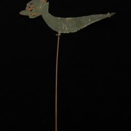 Green Worm Or Fish Rod Puppet