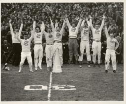 Cheerleaders Men Jumping