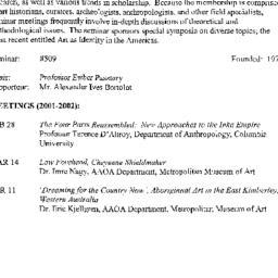 Schedules, Art of Africa, O...