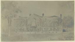 Brown Univ. Rockefeller Hall. [Perspective]