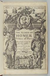 Title Page. The Iliads of Homer, Prince of Poets