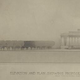 Elevation and plan showing ...