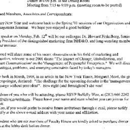 Announcements, 2001-02-12. ...