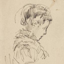 Young Woman Seated, in Profile