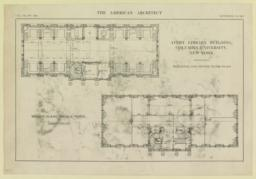 Avery Library Building, Columbia Unversity, New York. Mezzanine and second floor plans. Messrs. McKim, Mead & White, Architects