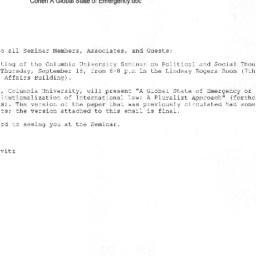 Announcements, 2008-09-18. ...