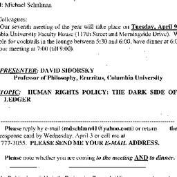 Announcements, 2002-04-09. ...